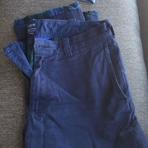 J. Crew Flannel Lined Navy Chinos